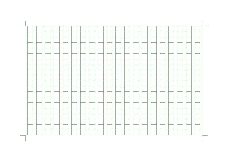 原稿用紙 400字詰め 無料ダウンロード テンプレート02 a4サイズ 縦
