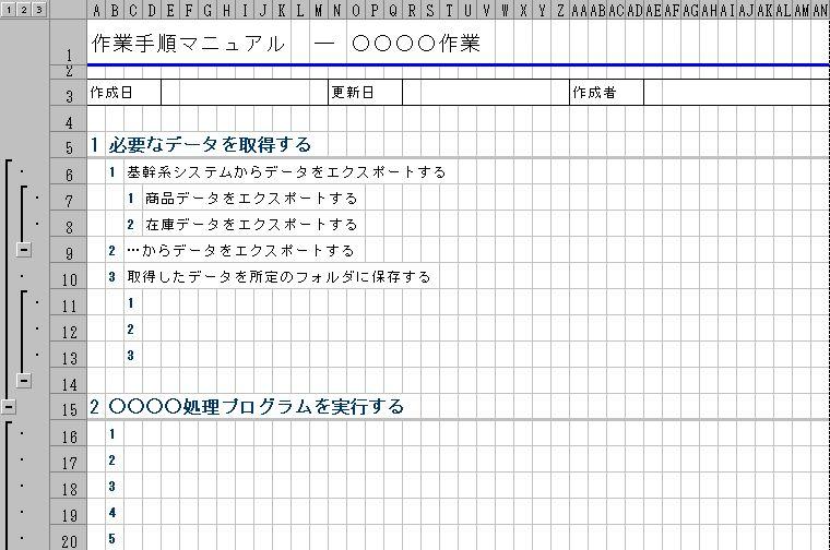 業務マニュアル(作業マニュアル・作業手順書)
